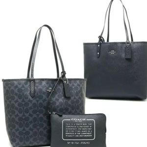 Coach Reversible City Tote Midnight/Denim